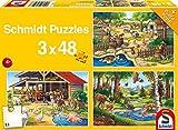 Schmidt Spiele Puzzle 56203 - Standard 3 x 48 Teile Alle Meine Lieblingstiere