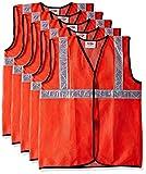 #9: Safari Pro 2' Inch Reflective Safety Jacket, Orange, Mesh Type, Set of 5