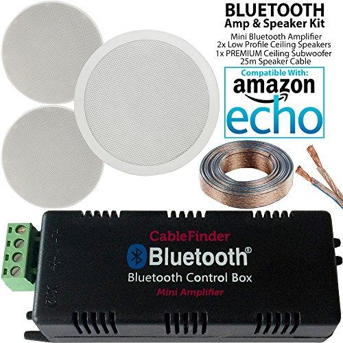 Smart h0me Bluetooth Verstärker & 70W Low Profile Deckenleuchte Lautsprecher & 1x 160W Deckenleuchte Subwoofer System–Mini/Micro Wireless AMP–Kompaktes Audio HiFi Surround Sound Musik Player–Cablefinder