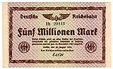 Banknoten Fünf Millionen Mark, Deutsches Reich, 1923, Nr. 29113