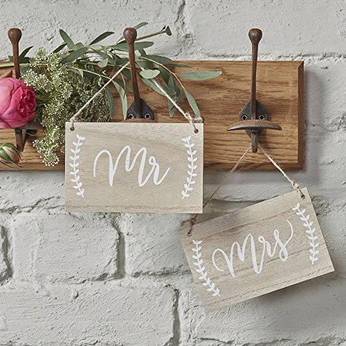 Madera de carteles Mr & Mrs boho Chic