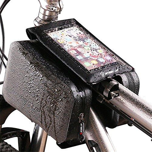 Sumferkyh Fahrradhecktasche Schwanz Hinten Beutel Fahrrad Tasche Fahrrad Satteltasche Regendicht MTB Rennrad Zubehör Sattel Post Tasche Wasserbeständig Langlebig