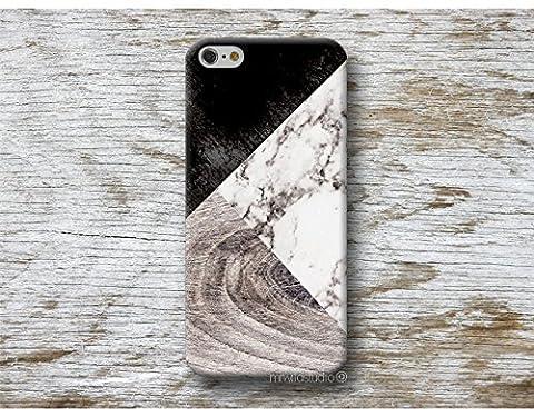 Blanc Marbre bois Print Coque Étui Phone Case pour iPhone 4 4s 5 5s se 5C 5se 6 6s 7 8 Plus iPod 5 6