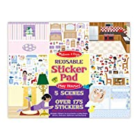 Melissa and Doug Reusable Sticker Pad Set: Play House - 175 Plus Reusable Stickers