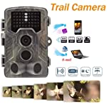 feiledi Trade 4G LTE Trail Wildlife Kamera,16 MP 1080P Full HD Infrarot Kamera mit Nachtsicht bis zu 65 FT, 5,1cm...
