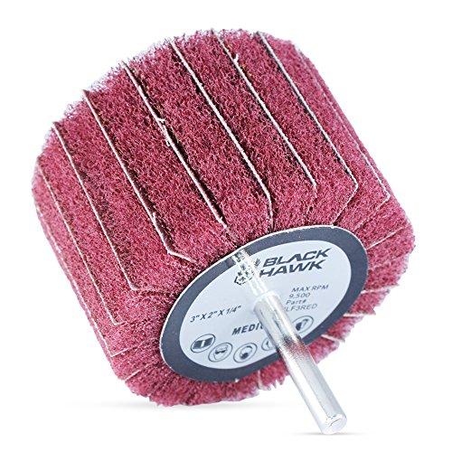 Interleaf Flap Rollen, 7,6 x 5,1 x 0,6 cm, Rot (mittel) zum Schleifen und Polieren, 5 Stück - Flapper-disc