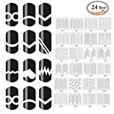 Mlmsy French Nail Tip Guides Stickers Set Strip Nail Art Decoration 24...