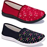 Shoefly Women Multicolour Latest Collection Sneakers Shoes- Pack of 2 (Combo-(2)-1451-1450)