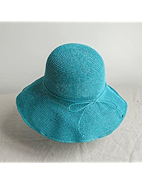 LVLIDAN Sombrero para el sol del verano Dama SolAnti-sunshinestrawhat skyblue plegable
