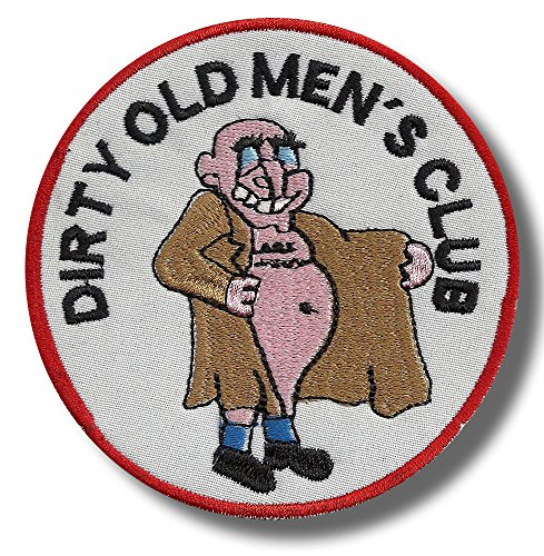 Dirty old mens club - embroidered patch 8 x 8 cm