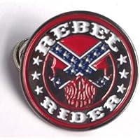 Bikers Rebel Rider - Spilla in metallo smaltato, diametro circa 25 mm, resistente all'ossidazione