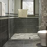 Yorbay Edelstahl Duschrinne Bodenablauf Ablaufrinne 50cm-120cm für Badezimmer (Befliesbar, 80cm)