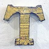 STUFF Loft Metallbuchstaben & Zeichen 3D aus Altmetall Vintage Deko-Buchstaben Höhe 31 cm (T)
