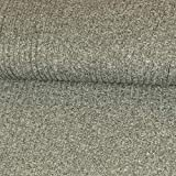 Strickstoff Meliert Hellgrau Einfarbig Uni Strickjersey Modestoffe Strick melangeeffekt - Preis Gilt für 0,5 Meter