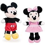 """Famosa Softies - 7'87""""/20cm Peluche Mickey Minnie Donald Pluto - qualità Super Soft (Set 2 Peluches Mickey+Minnie)"""