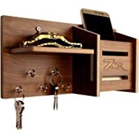 7CR Wooden Key Holder - (10.2 x 25.5 cm, Columbian Walnut)