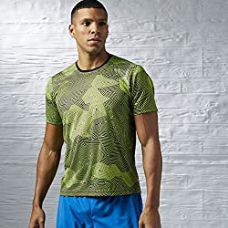 Reebok RE SS TEE - T-shirt pour hommes, gris, taille M