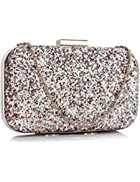 7162118e32 Xardi London Women Glitter Embellished Hard Clutch Crystal Bridal Wedding  Ladies Evening Bags
