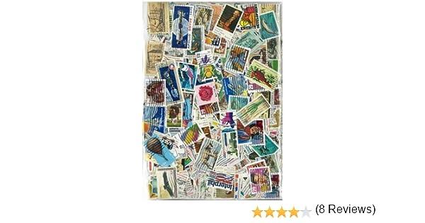 motivo Stati Uniti Collezione di francobolli obliterati 300 francobolli diversi