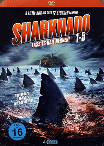 Sharknado 1 - 5 DVD Box - Die Kult Hai Film Collection