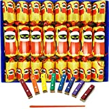 Crackers Ltd Musical Christmas Crackers with Mini Xylophones - Christmas Cat Design in Silver (Cat F1)