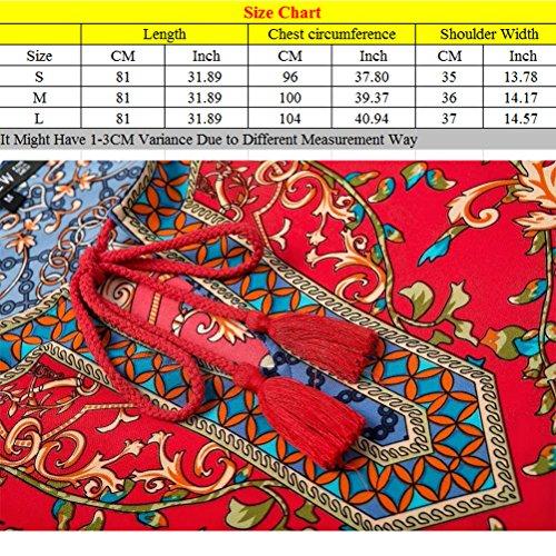 Zhhlinyuan Maternité Pregnant Women Fashion Retro Dresses Floral Colorful Pregnancy Nursing Dresses Multicolore