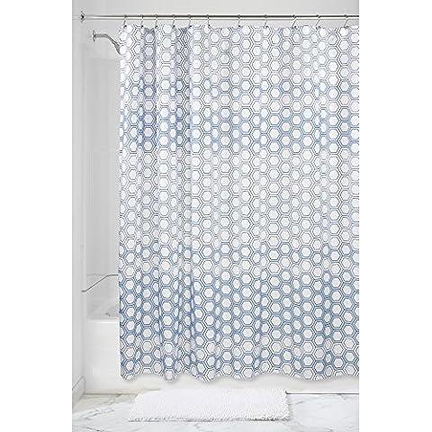InterDesign-Tenda da doccia in tessuto costellato di stelle, colore blu,