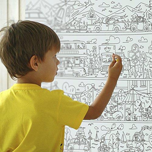 Farbstoffe Für Kinder Autopark. Ausmalbilder Für Kinder Und Ewachsene. Farbe Ich Pakate Für Familie. Großes Riesiges Farbtonplakat