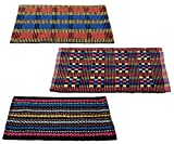 #4: Story@Home Traditional Style Eco Series 3 Piece Cotton Blend Door Mat Set - 16