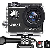 Dragon Touch Action Camera 1080P Videocamera Impermeabile Action Cam Subacquea con Telecomando per Bambini e…
