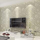 GK-Einfache europäische Stil Wand Warmes TV Hintergrund Tapete DekorationBedroom europäischen Stil Vliestapete Dekoration 3D Wallpaper den Fernseher im Wand Hintergrundpapier , 3