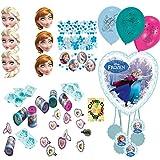 HHO Frozen Ice Die Eiskönigin Anna & ELSA Pinata Mitgebsel Masken Konfetti Luftballons für 6 Kinder