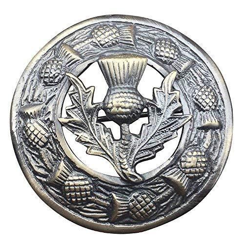 """Herren Schottisch Kilt Fly Plaid Brosche Groß Distel Wappen Verschiedene Design 3\""""/ Hochland Fly Karos Anstecknadel & Broschen Heritage Blume - Antik Veredlung"""