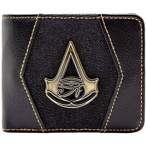 Assassins Creed Origins Goldwappen Schwarz Portemonnaie -
