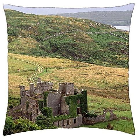 Irlande de Galway Clifden Castle–Homme de pluie Housse de taie d'oreiller (45,7x 45,7cm)