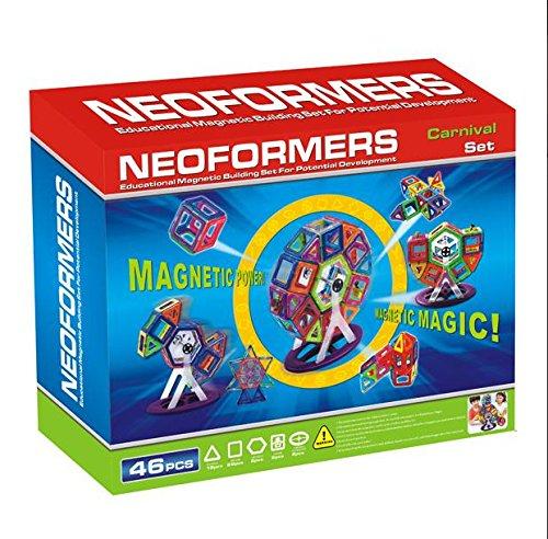 KLEIN Design Blocs de Construction magnétique de Haute qualité de Neoformers - Carnaval Set - 46 Pièces pour Enfant à partir DE 3 Ans.