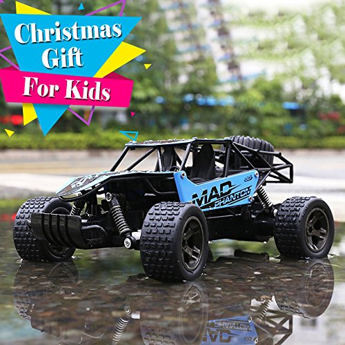 RC Automobiles, All Terrain Distant Management Excessive-Pace Telecar, Offroad 2.4Ghz 2WD Distant Management Monster Truck, Christmas Present for Children and Adults