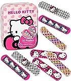 Pflasterset -  Hello Kitty  - 40 Stück wasserfeste Pflaster - in Metall Box - Pflasterbox Dose bunt Kinderpflaster - Katze / Kätzchen - Tiere - für Kinder u..