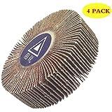 bardland 80x 25x 64x lija papel de lija 60grano de discos rueda de aleta para Dremel herramientas rotatorias