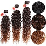 Best Synthetic Hairs - 14-18inch 6pieces Fashion beauty Ombre Purple Jerry Curly Review