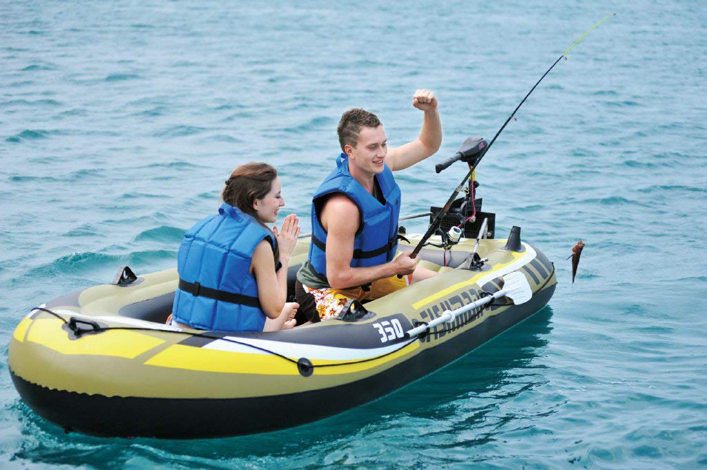 Angle&Dolphin 2-Person inflatable boat with Oars and Pump