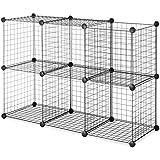 Whitmor 6070–968Kit de BLK Cubes de rangement noire (Lot de 6), noir