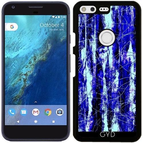 funda-para-google-pixel-azul-pintura-de-madera-del-grano-negro-by-costasonlineshop