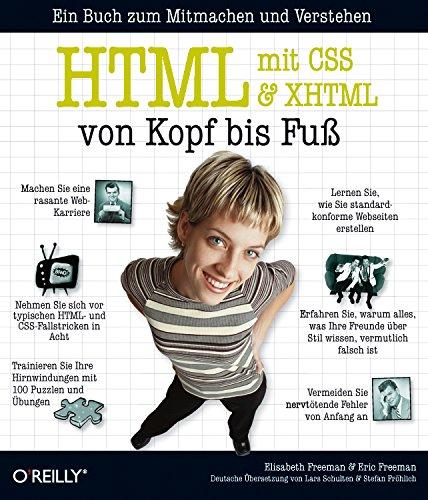 HTML mit CSS & XHTML von Kopf bis Fuß Buch-Cover