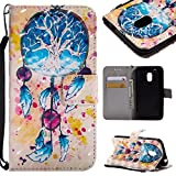GHC-CASES-7 GHC Hüllen & Holster, für Motorola Moto G4 Play (2016), 3D Glitter Painted Design PU-Leder Folio Flip Case Wallet Stand Cover (Pattern : 2)
