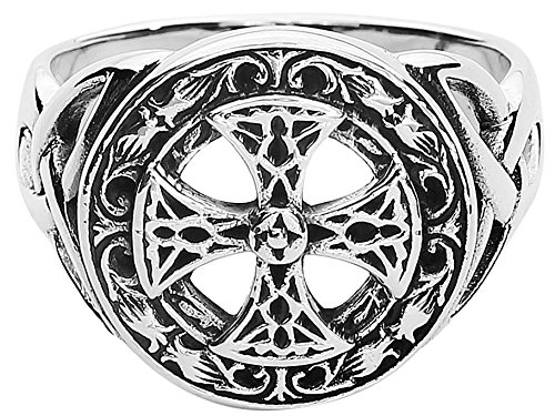 etNox magic and mystic Silver Celtic Cross Anello standard S