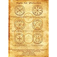 Sigilli per la protezione Scroll Geni Kabbalah manifesto wicca rune pagana Stampa artistica strega Magick