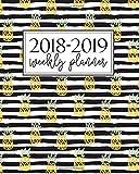 2018-2019 Weekly Planner: Cute Yellow Lemons on Coral