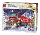 King 5618 Santa Express Puzzle, Weihnachts-Puzzle, 1000 Teile
