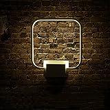 Lightess Lampada da Parete a LED 12W, Stile Moderno Applique da Parete Interni per Decorazione, Bianco Caldo